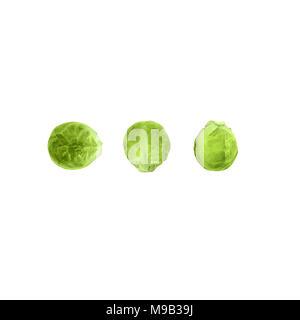 Cabbage Flat lay photo - Stock Photo