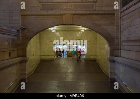 New York, NYC, USA- August 27, 2017: Interiors and details of Grand Central Terminal. - Stock Photo