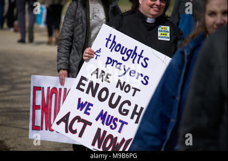 Adults and Kids with protect signs in Washington DC March 24 2018 - Stock Photo
