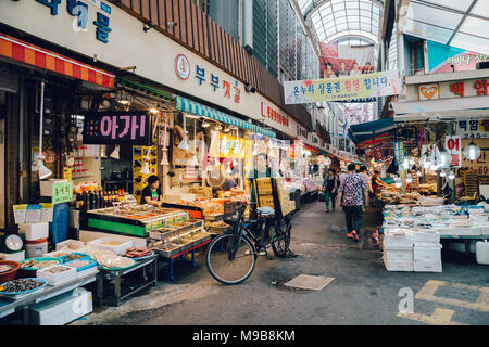 Suwon, Korea - July 20, 2016 : Korean traditional market