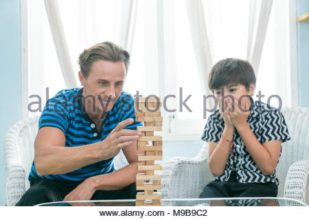 Dad and good son are happy together. - Stock Photo