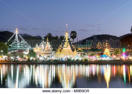 Wat Chong Klang Temple in Thailand - Stock Photo