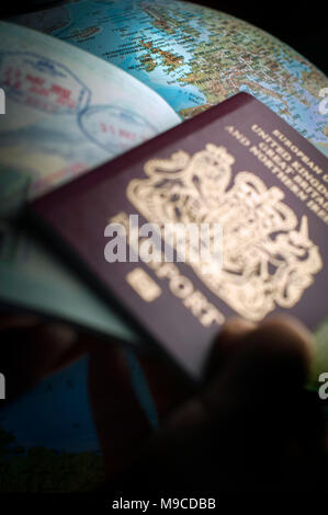 After Brexit will visa's be needed for travel in Europe. - Stock Photo