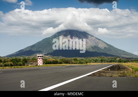 La Paloma Airport on Ometepe Island in Nicaragua - Stock Photo