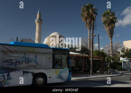 Cami-i-Kebir Mosque in the old town of paphos, on the mediterranean island of cyprus, europe - Stock Photo
