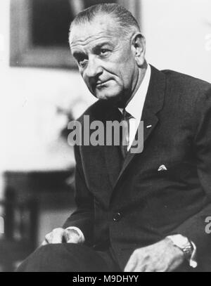 Lyndon Baines Johnson (1908 – 1973), LBJ, American politician and 36th President of the United States from 1963 to 1969 - Stock Photo