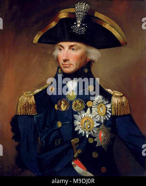 Horatio Nelson, 1st Viscount Nelson, (1758 – 1805)  British officer in the Royal Navy - Stock Photo