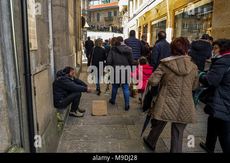 Vigo, Galicia - Spain - March 25th 2018 - Celebration on Palm Sunday in Vigo - Stock Photo