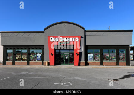 Ottawa, Canada - March 24, 2018:  Sports bar/restaurant named after the Canadian icon Don Cherry on Hunt Club Road.  This location is closed now but t - Stock Photo