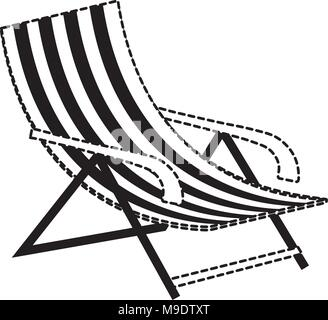 beach chair icon over white background, vector illustration - Stock Photo