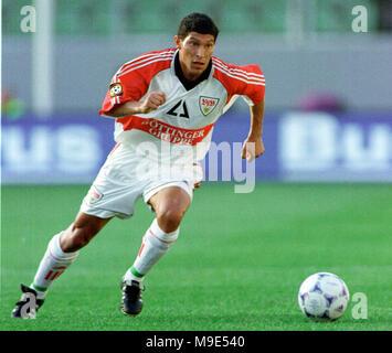 BayArena Leverkusen, Germany, 8.8.1998, German Liga-Cup Final, FC Bayern Munich vs VfB Stuttgart --- Krassimir BALAKOV (Stuttgart) - Stock Photo