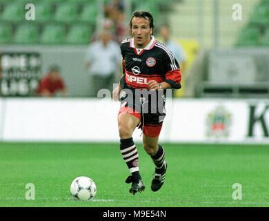BayArena Leverkusen, Germany, 8.8.1998, German Liga-Cup Final, FC Bayern Munich vs VfB Stuttgart --- Jens JEREMIES  (Munich) - Stock Photo