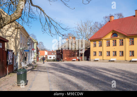 Open-air museum Old Linköping during early spring in Sweden - Stock Photo