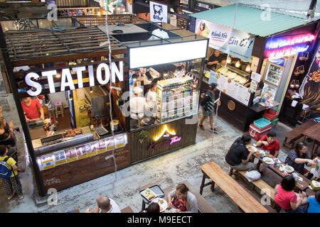 SAIGON, VIETNAM, DEC 15 2017, Ben Thanh street food market. - Stock Photo
