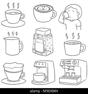 vector set of coffee - Stock Photo