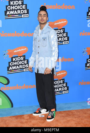 Inglewood, CA, USA. 24th Mar, 2018. 24 March 2018 - Inglewood, California - Quincy Brown. Nickelodeon's 2018 Kids' Choice Awards held at The Forum. Photo Credit: Birdie Thompson/AdMedia Credit: Birdie Thompson/AdMedia/ZUMA Wire/Alamy Live News - Stock Photo