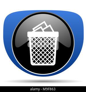 Trash can web icon - Stock Photo