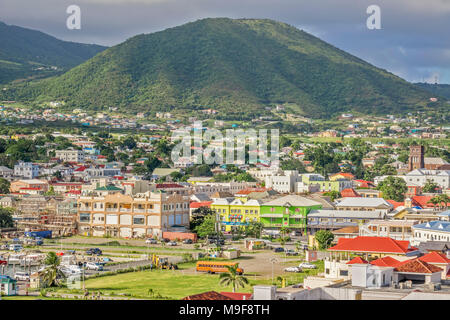 Basseterre,  St. Kitts, West Indies - Stock Photo