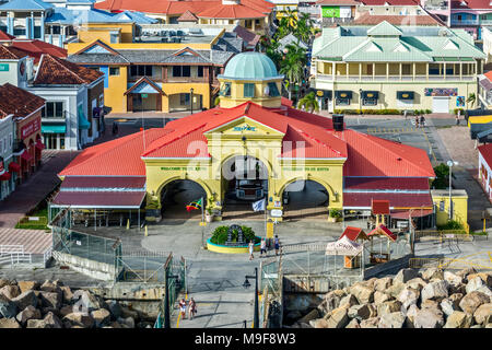 The Port Of Zante Basseterre,  St. Kitts, West Indies - Stock Photo