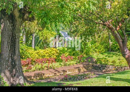 Kitts West Indies · Hut In The Garden Romney Manor ST. Kitts West Indies    Stock Photo