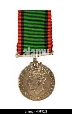 Southern Rhodesia Medal for War Service 1939-1945. It is a British Campaign Medal awarded to members of the Southern Rhodesia Defence Forces. - Stock Photo