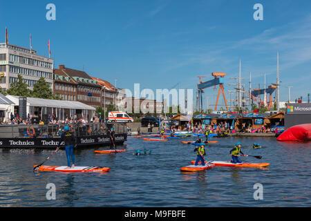 Bootshafen Kieler Woche - Stock Photo