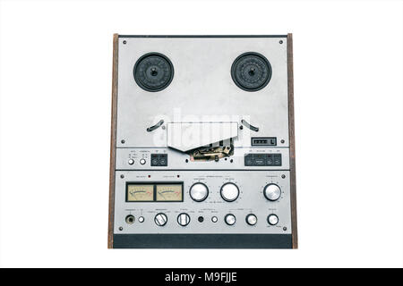 Old reel tape recorder - Stock Photo