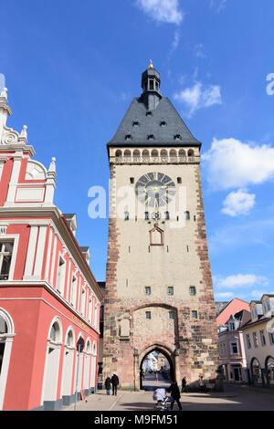 Speyer: Stadttor (city gate) Altpörtel, , Rheinland-Pfalz, Rhineland-Palatinate, Germany - Stock Photo