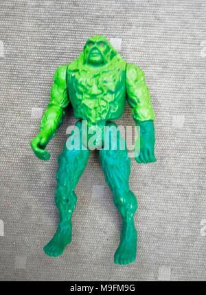 swamp thing vintage kenner figure - Stock Photo