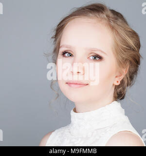Pretty Girl with Blonde Hair. Young Face - Stock Photo
