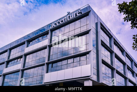 Sydney, Australia - Jan. 31, 2017: Accenture - a global professional services company, providing a broad range of services and solutions in strategy, - Stock Photo