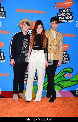 Inglewood, California, USA. 24th March, 2018. Ecosmith attends Nickelodeon's 2018 Kids' Choice Awards at The Forum on March 24, 2018 in Inglewood, California Credit: Tsuni / USA/Alamy Live News - Stock Photo