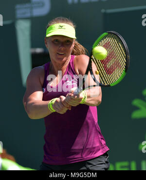 Key Biscayne, Florida, USA. 25th March, 2018. Kiki Bertens  during day 7 of the Miami Open Presented by Itau at Crandon Park Tennis Center on March 25, 2018 in Key Biscayne, Florida.   People:  Kiki Bertens Credit: Storms Media Group/Alamy Live News - Stock Photo