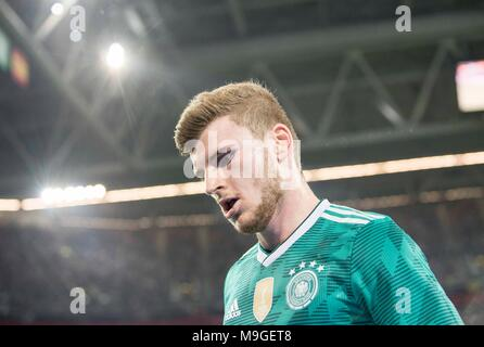 Duesseldorf, Deutschland. 23rd Mar, 2018. Timo WERNER (GER) Fussball Laenderspiel, Freundschaftsspiel, Germany (GER) - Spanien (ESP) 1:1, am 23.03.2018 in Duesseldorf/ Germany. |usage worldwide Credit: dpa/Alamy Live News - Stock Photo