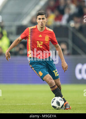 Duesseldorf, Deutschland. 23rd Mar, 2018. Rodrigo HERNANDEZ (ESP) Aktion, Fussball Laenderspiel, Freundschaftsspiel, Germany (GER) - Spanien (ESP) 1:1, am 23.03.2018 in Duesseldorf/ Germany. |usage worldwide Credit: dpa/Alamy Live News - Stock Photo