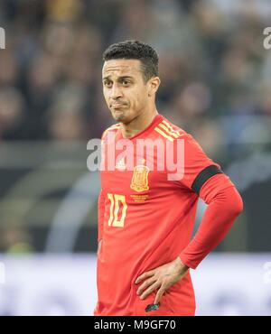 Duesseldorf, Deutschland. 23rd Mar, 2018. THIAGO (ESP) Mimik Fussball Laenderspiel, Freundschaftsspiel, Germany (GER) - Spanien (ESP) 1:1, am 23.03.2018 in Duesseldorf/ Germany. |usage worldwide Credit: dpa/Alamy Live News - Stock Photo