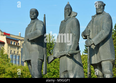 Novosibirsk, Russia - August 25, 2014: Fragment of the monument to V. I. Lenin on the main square. Multi-figure composition opened in 1970, and is fed - Stock Photo