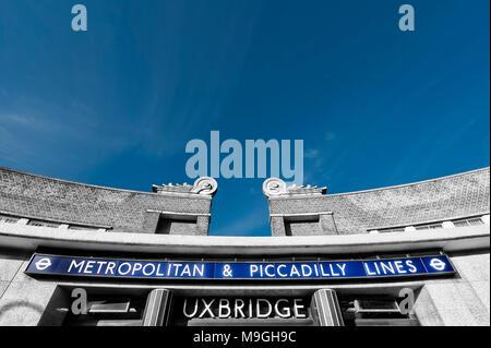 London Underground Tube Station: Uxbridge - Stock Photo