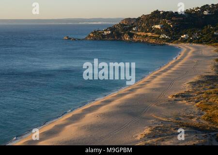 Spain, Andalusia, Cadiz, Zahara de los Atunes, Bahia del la plata, sand dunes at the beach - Stock Photo