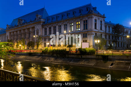 Palace of Justice in Romanian capital Bucharest - Stock Photo