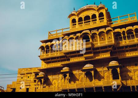 Jaisalmer Fort Raja Ka Mahal, historic architecture in India