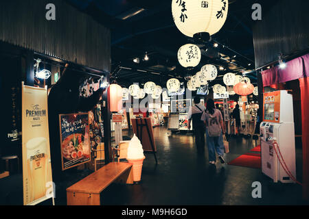 Fukuoka, Japan - June 13, 2017 : Japanese restaurant Ramen stadium in Canal City Hakata - Stock Photo