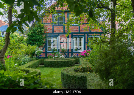 Historic centre of the town of  Bad Oldesloe, county of Storman, Schleswig-Holstein, Germany, Europe - Stock Photo
