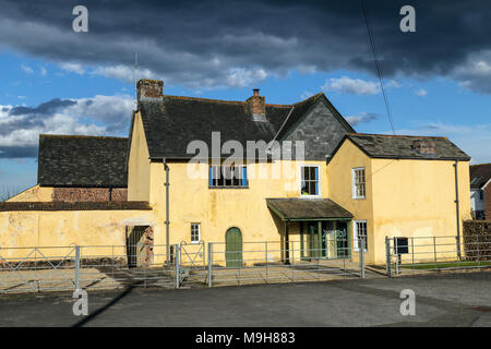 Richard Holland, MP for Devon in 1422, when construction started. By 1429 the private chapel had been completed. Bowhill House,Exeter,Grade 1 listed. - Stock Photo
