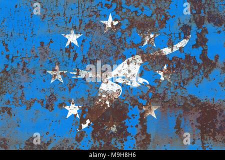 Corpus Christi city smoke flag, Texas State, United States Of America - Stock Photo