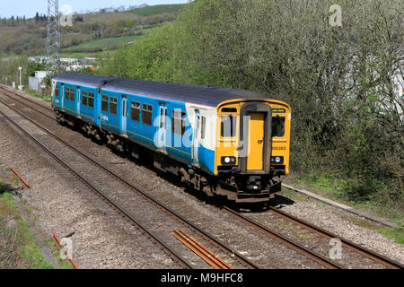 Arriva Trains Wales Class 150 150283 at Pontyclun, South Wales, UK travelling to Cardiff - Stock Photo