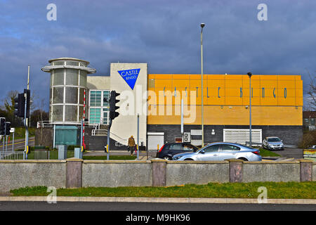 The Castle Bingo Club in Bridgend, South Wales. - Stock Photo