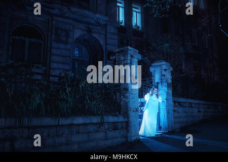 Ghost in night - Stock Photo