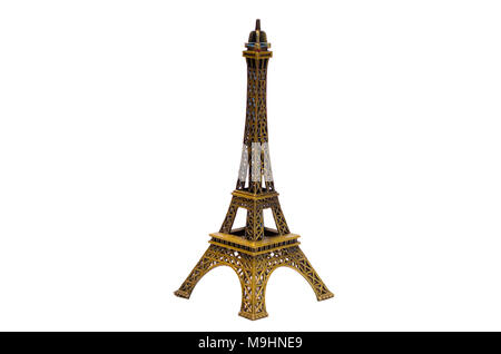 Eiffel tower isolated on white background Eiffel Tower Model Isolate - Stock Photo