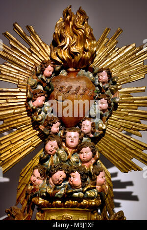 Sacred Heart of Jesus 18th Century Portugal Portuguese Coimbra - Stock Photo